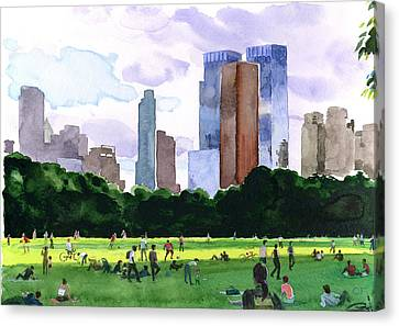 Sheep Meadow Canvas Print by Clifford Faust