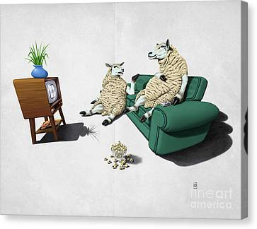 Transmission Canvas Print - Sheep Wordless by Rob Snow