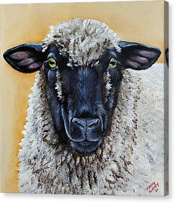 Lamb Canvas Print - Shirley by Laura Carey