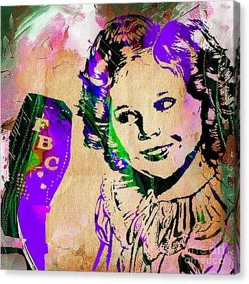 Shirley Temple Collection Canvas Print