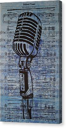 Shure 55s On Music Canvas Print by William Cauthern