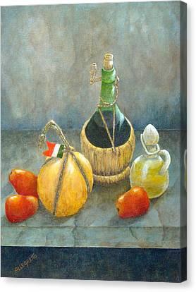 Sicilian Table Canvas Print by Pamela Allegretto
