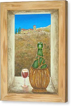 Sicilian View Canvas Print by Pamela Allegretto