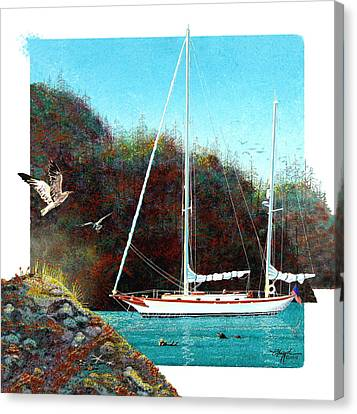 Silent Anchorage Canvas Print by David  Chapple