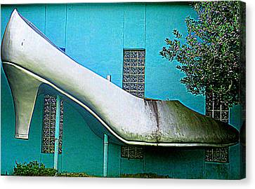 Silver Slipper Canvas Print by Randall Weidner