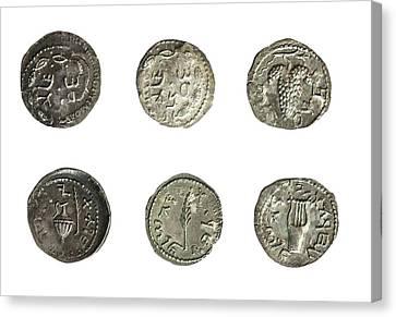 Simon Bar-kokhba Coins Canvas Print by Photostock-israel