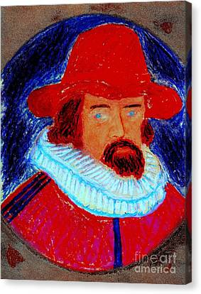 Canvas Print featuring the painting Sir Francis Bacon by Richard W Linford