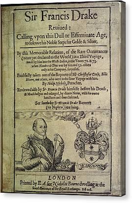 Sir Francis Drake Canvas Print by British Library