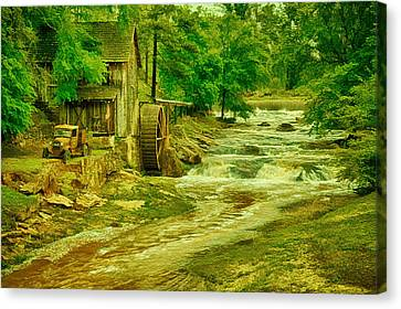 War Torn Flag Canvas Print - Sixes Mill by Priscilla Burgers