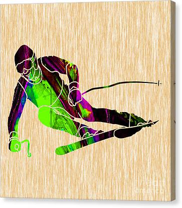 Skiing Canvas Print by Marvin Blaine
