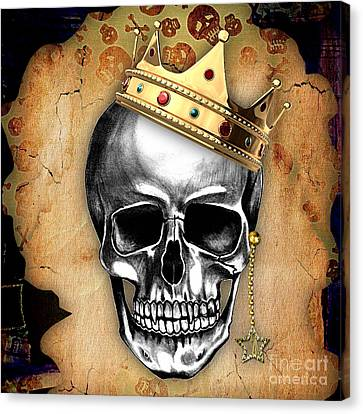 Skull Art Collection Canvas Print by Marvin Blaine