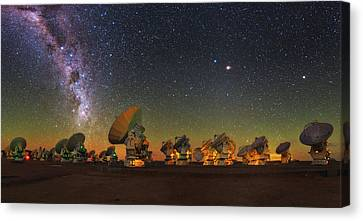 Sky Above Alma Radio Telescope Canvas Print