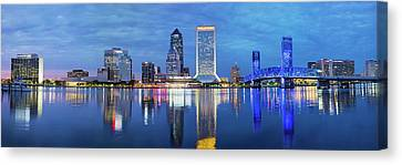 Skyscrapers At The Waterfront, Main Canvas Print by Panoramic Images
