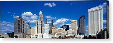 Skyscrapers In A City, Charlotte Canvas Print by Panoramic Images