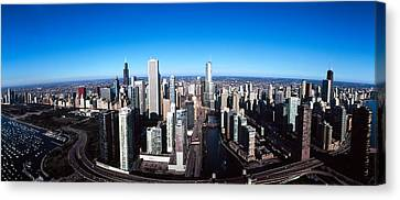 Chicago River Canvas Print - Skyscrapers In A City, Trump Tower by Panoramic Images