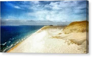 Vista Canvas Print - Sleeping Bear Dunes National Lakeshore by Michelle Calkins