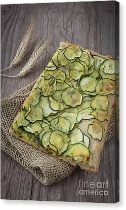Sliced Pizza With Zucchini Canvas Print by Sabino Parente
