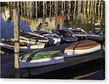 Small Boats And Dock In Port Clyde Maine Canvas Print by Keith Webber Jr
