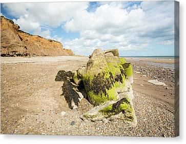 Smashed Concrete Sea Defences Canvas Print