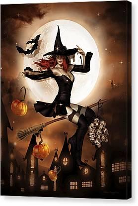Smashing Pumpkins Canvas Print by Shanina Conway