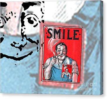 Overalls Canvas Print - Smile by Edward Fielding