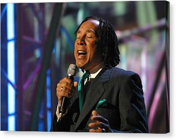 Canvas Print featuring the photograph Smokey Robinson by Don Olea