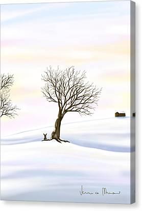 Snowscape Canvas Print - Snow by Veronica Minozzi