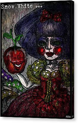 Snow White Canvas Print by Akiko Okabe