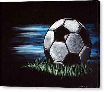 Soccer Ball Canvas Print by Dani Abbott