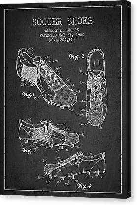 Soccershoe Patent From 1980 Canvas Print