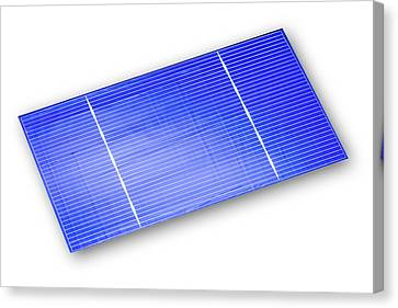 Solar Cell Canvas Print by Alfred Pasieka