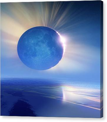 Solar Eclipse Canvas Print - Solar Eclipse by Detlev Van Ravenswaay