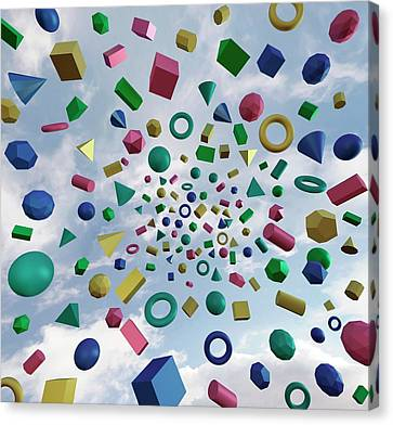 Platonic Canvas Print - Solid Geometry by Robert Brook