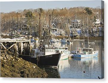 South Bristol And Fishing Boats On The Coast Of Maine Canvas Print