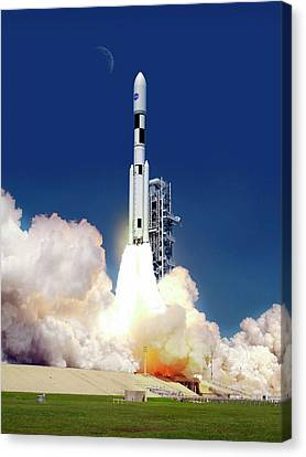 Space Launch System Launch Canvas Print