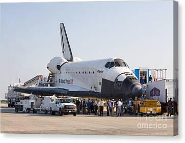 Space Shuttle Atlantis Final Mission Canvas Print by Chris Cook