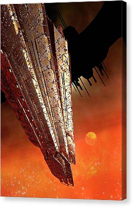 Outer Space Canvas Print - Space Station by Victor Habbick Visions