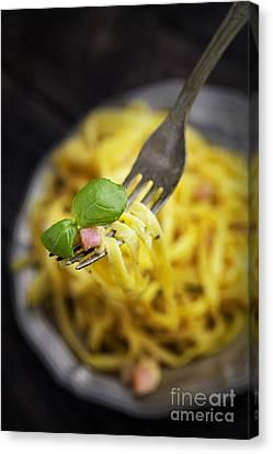 Spaghetti Carbonara Canvas Print