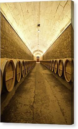 Cellar Canvas Print - Spain, Basque Country Region, La Rioja by Walter Bibikow