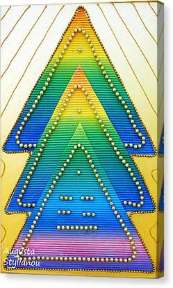 Spectrum Trees Canvas Print