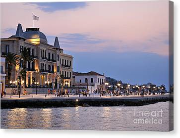 Spetses Town Canvas Print