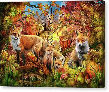 Canvas Print featuring the drawing Spirit Of Autumn by Ciro Marchetti