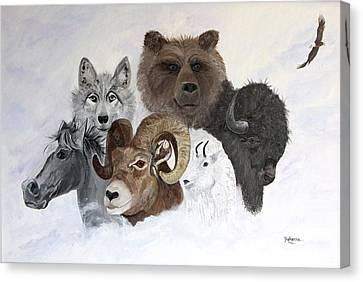 Spirit Totems Canvas Print by Judy M Watts-Rohanna