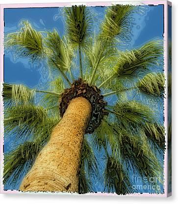 Square Polaroid Palm Tree Canvas Print