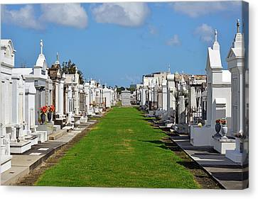 Sympathy Canvas Print - St Louis Cemetery No 3 New Orleans by Christine Till