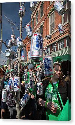 St. Patrick's Day Celebrations Canvas Print by Jim West