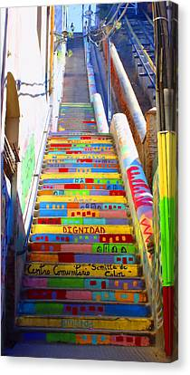 Stairway To Heaven Valparaiso  Chile Canvas Print