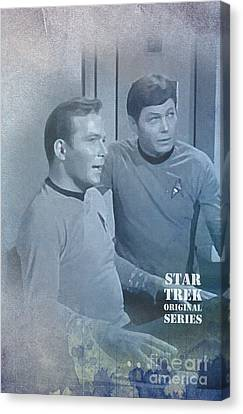 Star Trek Kirk And Mccoy Canvas Print by Pablo Franchi