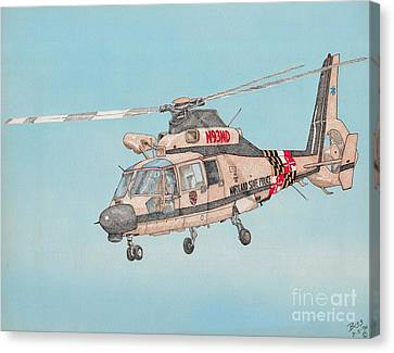 State Police Helicopter Canvas Print by Calvert Koerber
