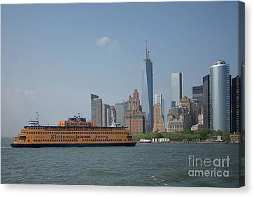 Staten Island Ferry Canvas Print by Carol Ailles
